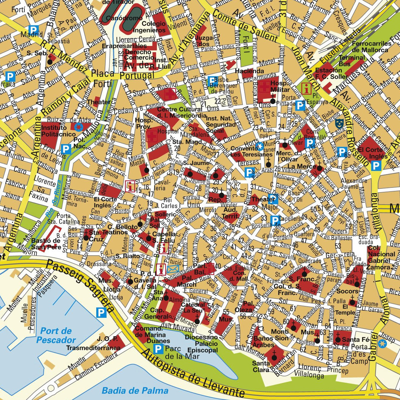 interactive map of the old town of palma de mallorca. Black Bedroom Furniture Sets. Home Design Ideas