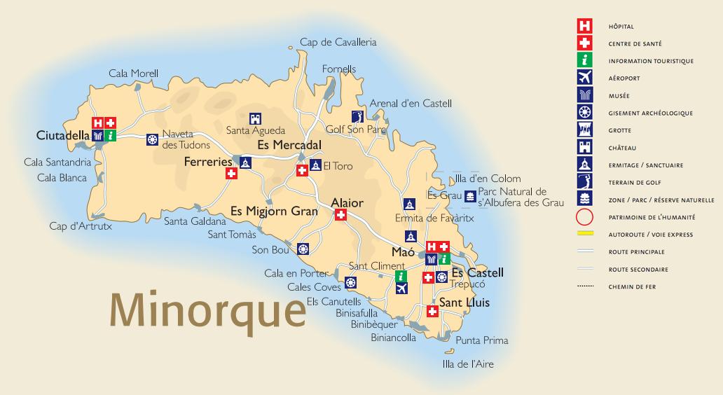 Infos sur : carte minorque - Arts et Voyages