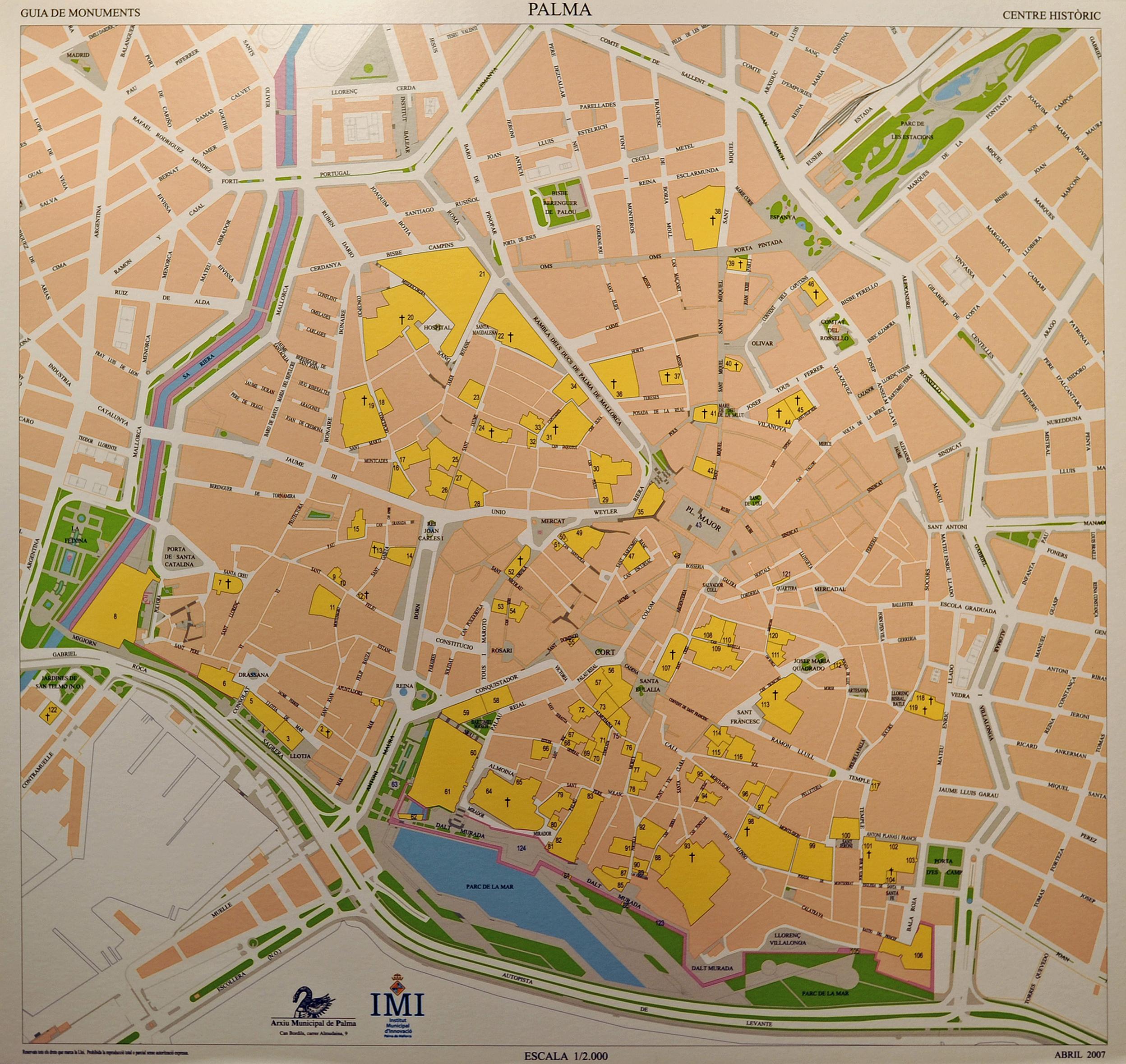 Plan De La Vieille Ville D Ibiza