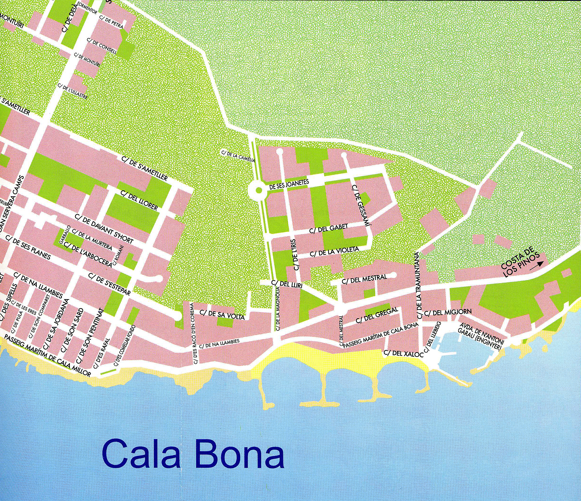 The village of Cala Bona in Majorca