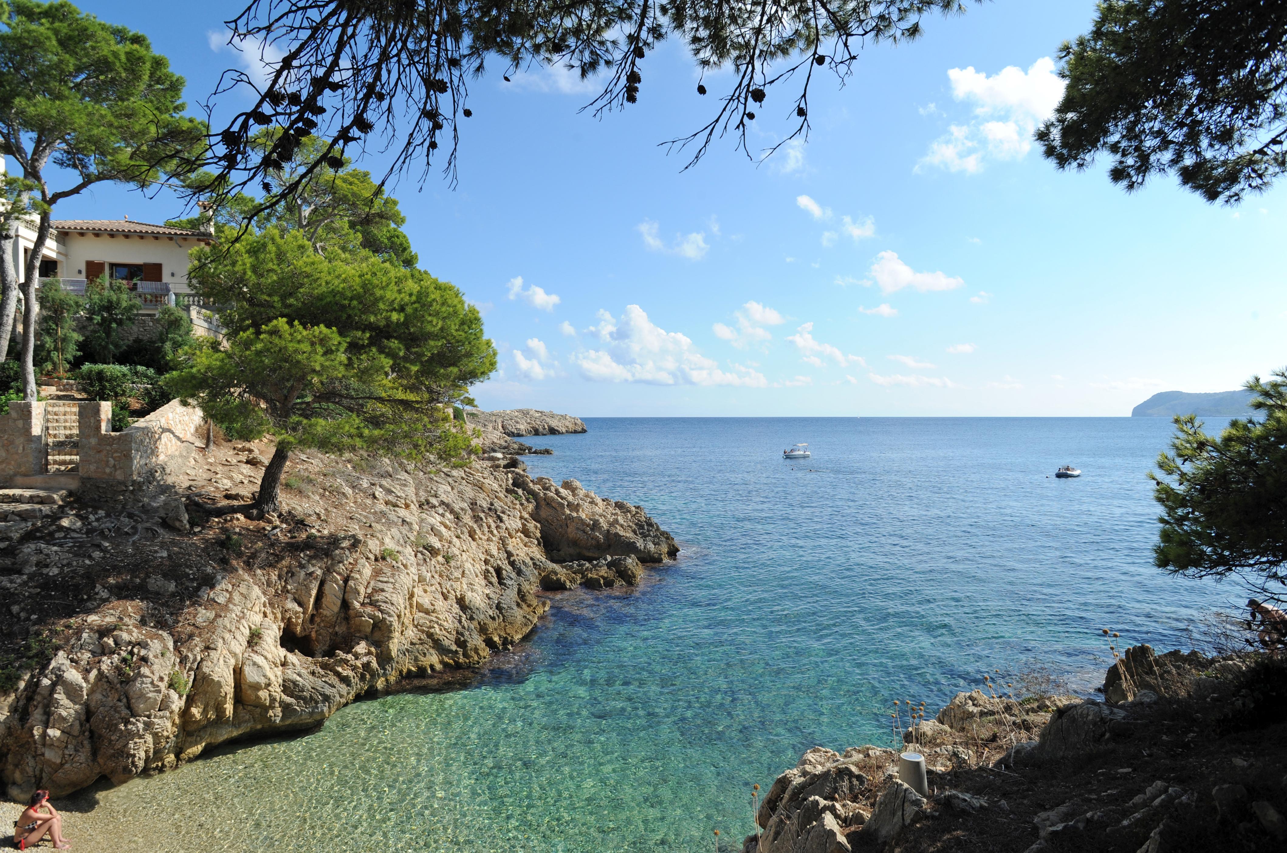 Das Dorf Cala Rajada (Cala Ratjada) in Mallorca