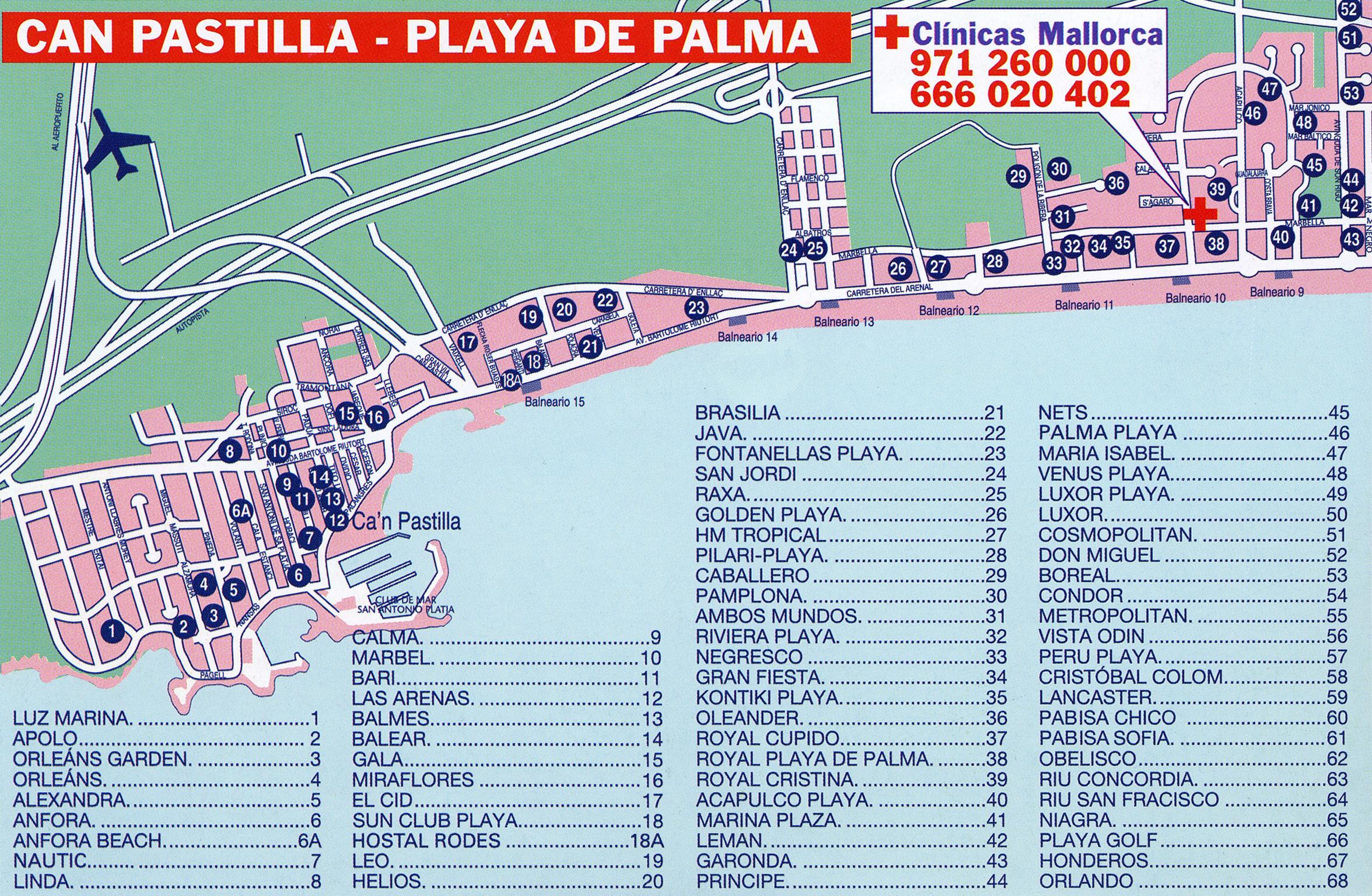 El pueblo de Can Pastilla en Mallorca