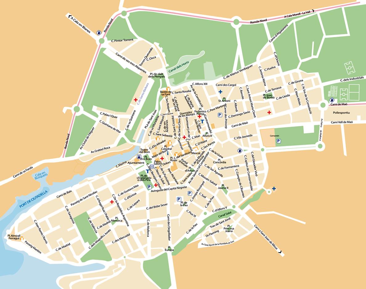 Plan De La Ville De Mahon Minorque
