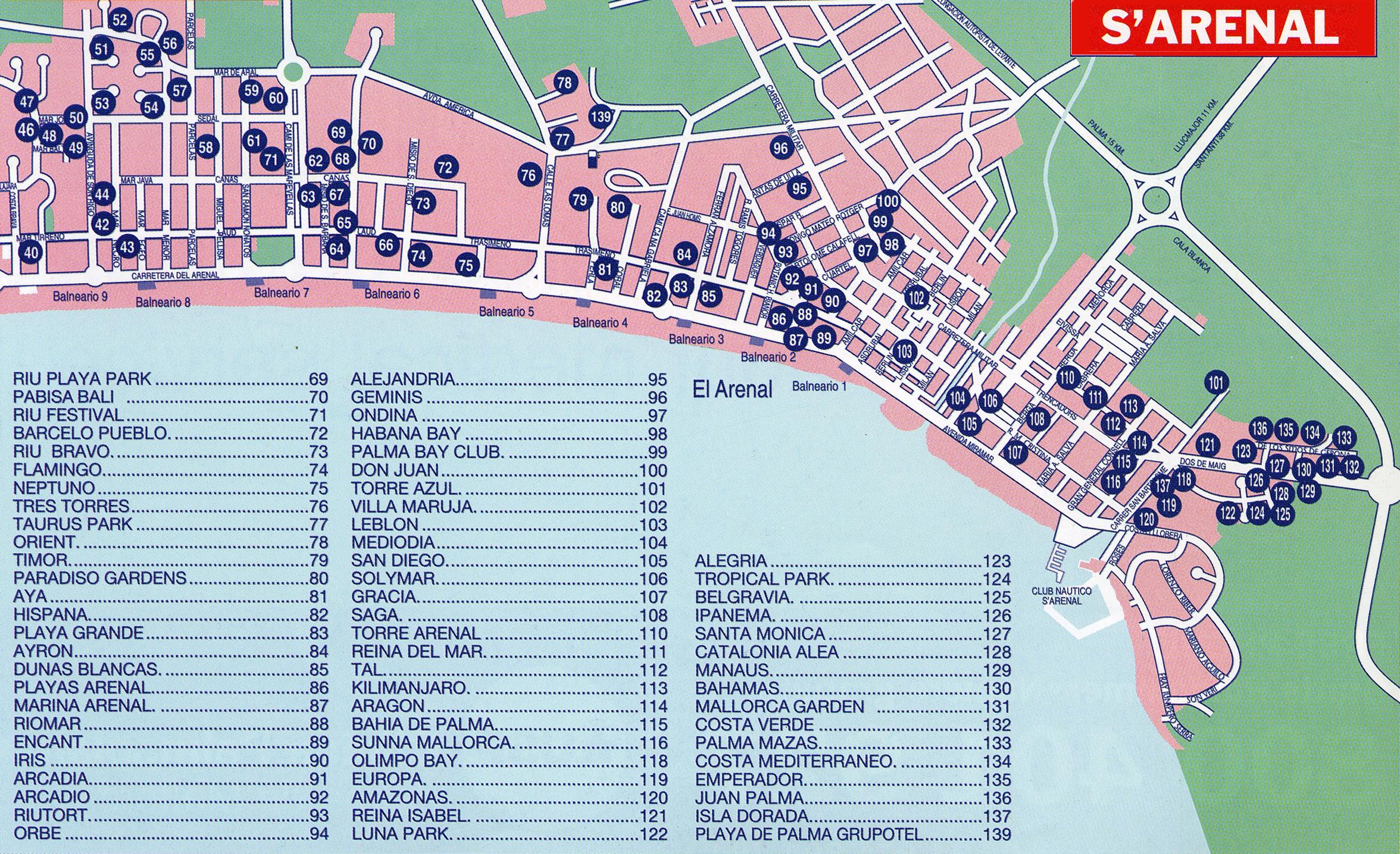 La ciudad de Llucmajor en Mallorca