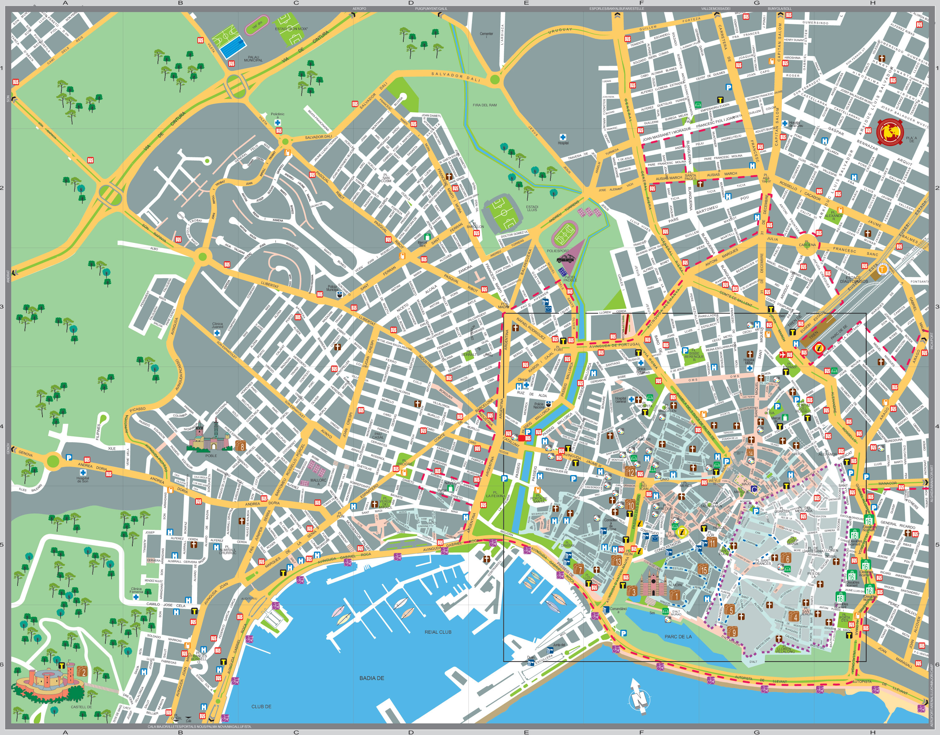 Interactive Map Of The City Of Palma De Mallorca