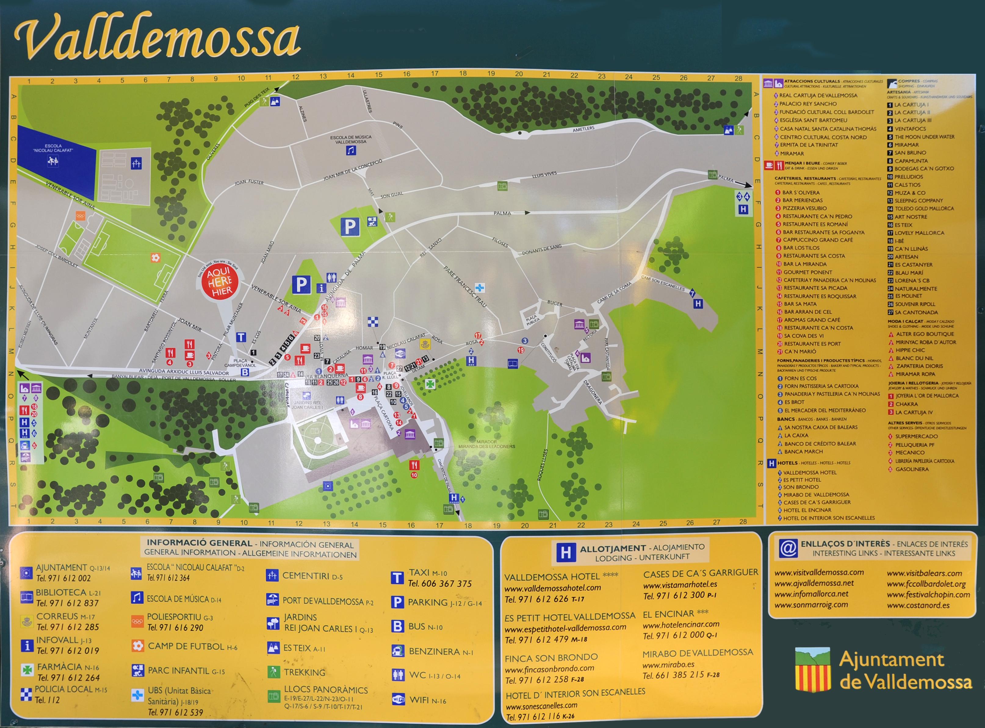 The Town Of Valldemossa In Majorca