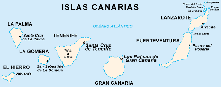 carte des iles canaries - Photo