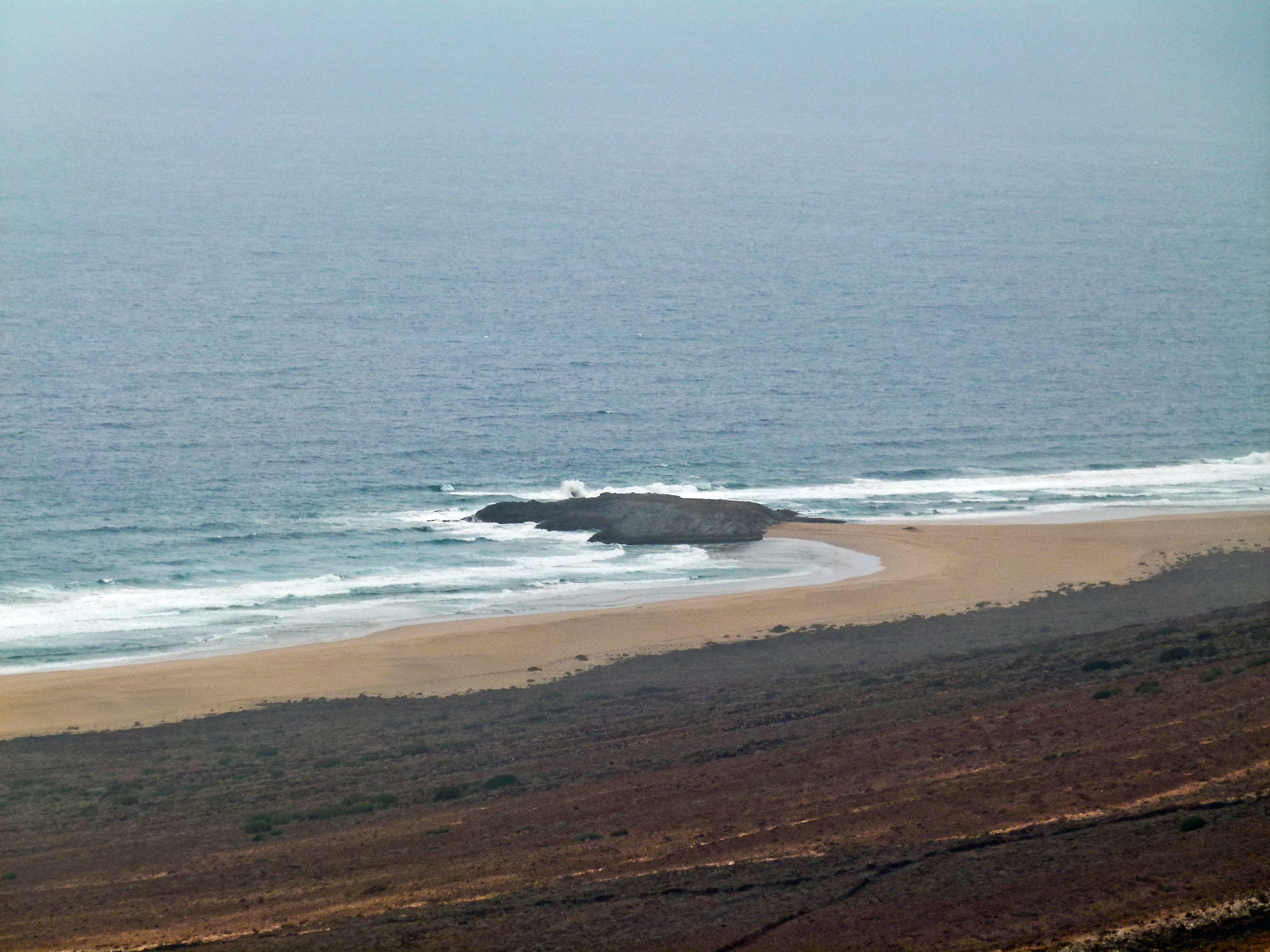 Le village de Cofete à Fuerteventura. El Islote (auteur Norbert Nagel).