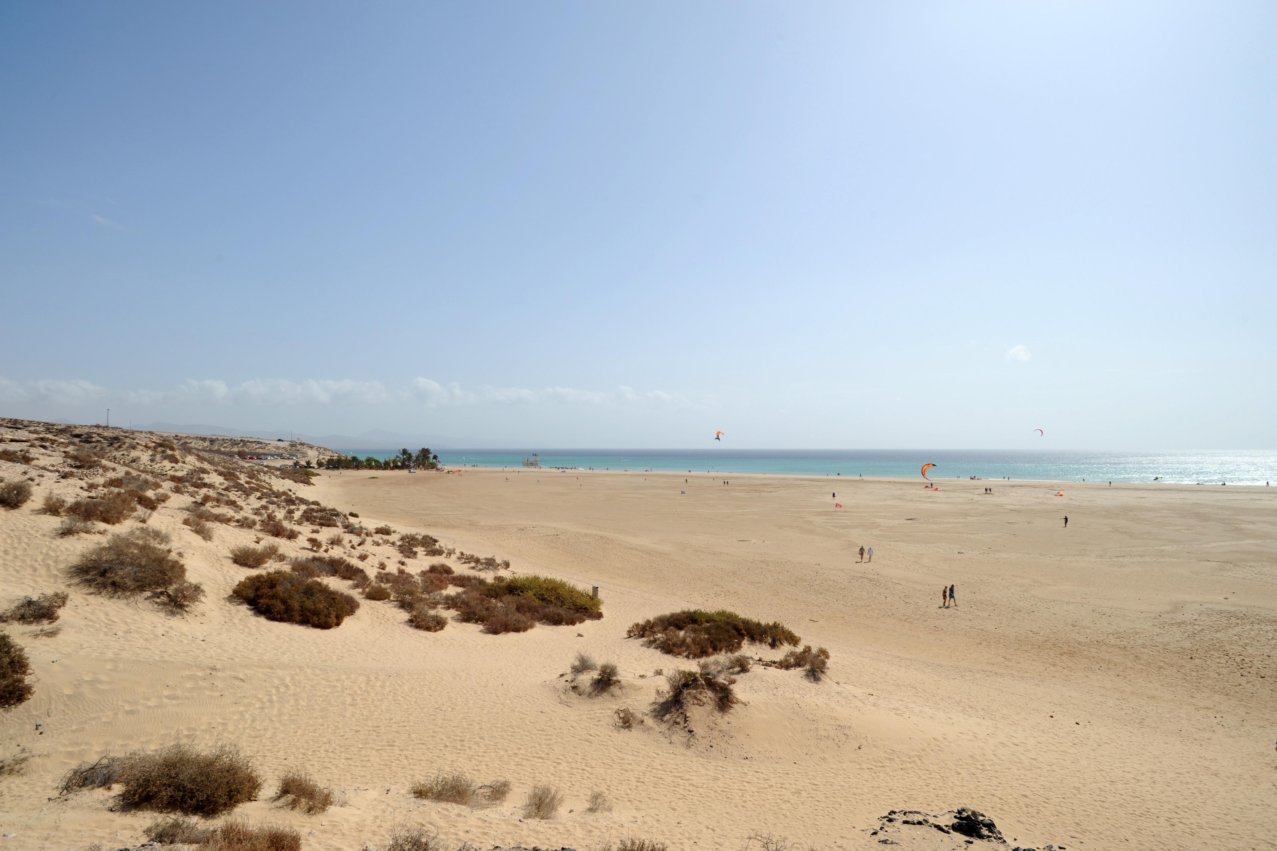 The village of Costa Calma in Fuerteventura