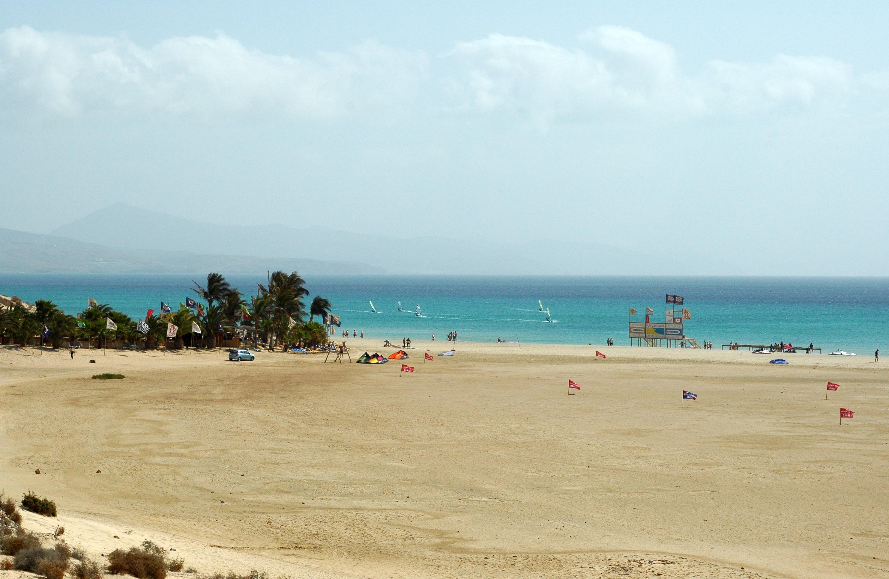 Das Dorf Costa Calma auf Fuerteventura