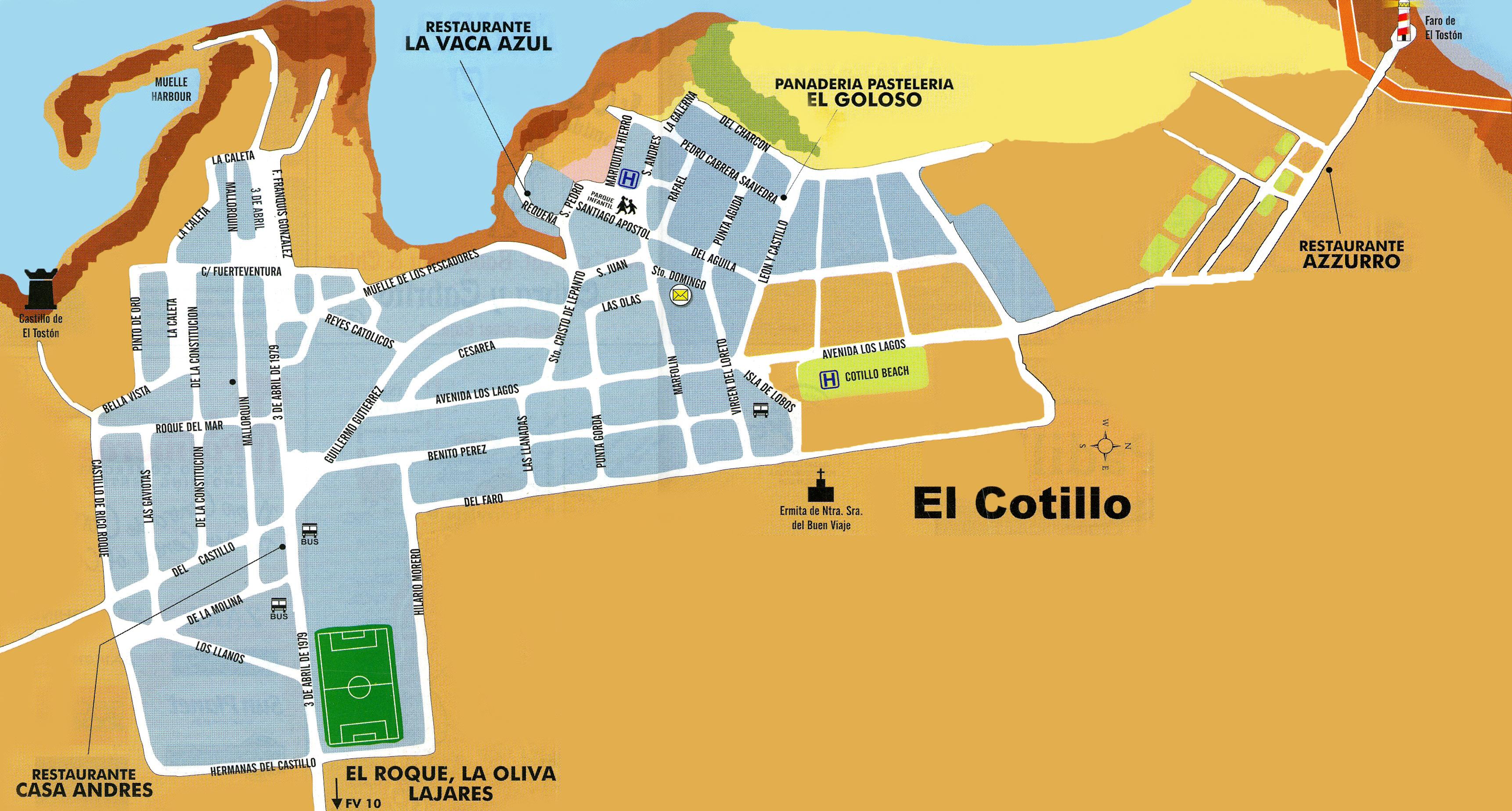 The village of El Cotillo in Fuerteventura