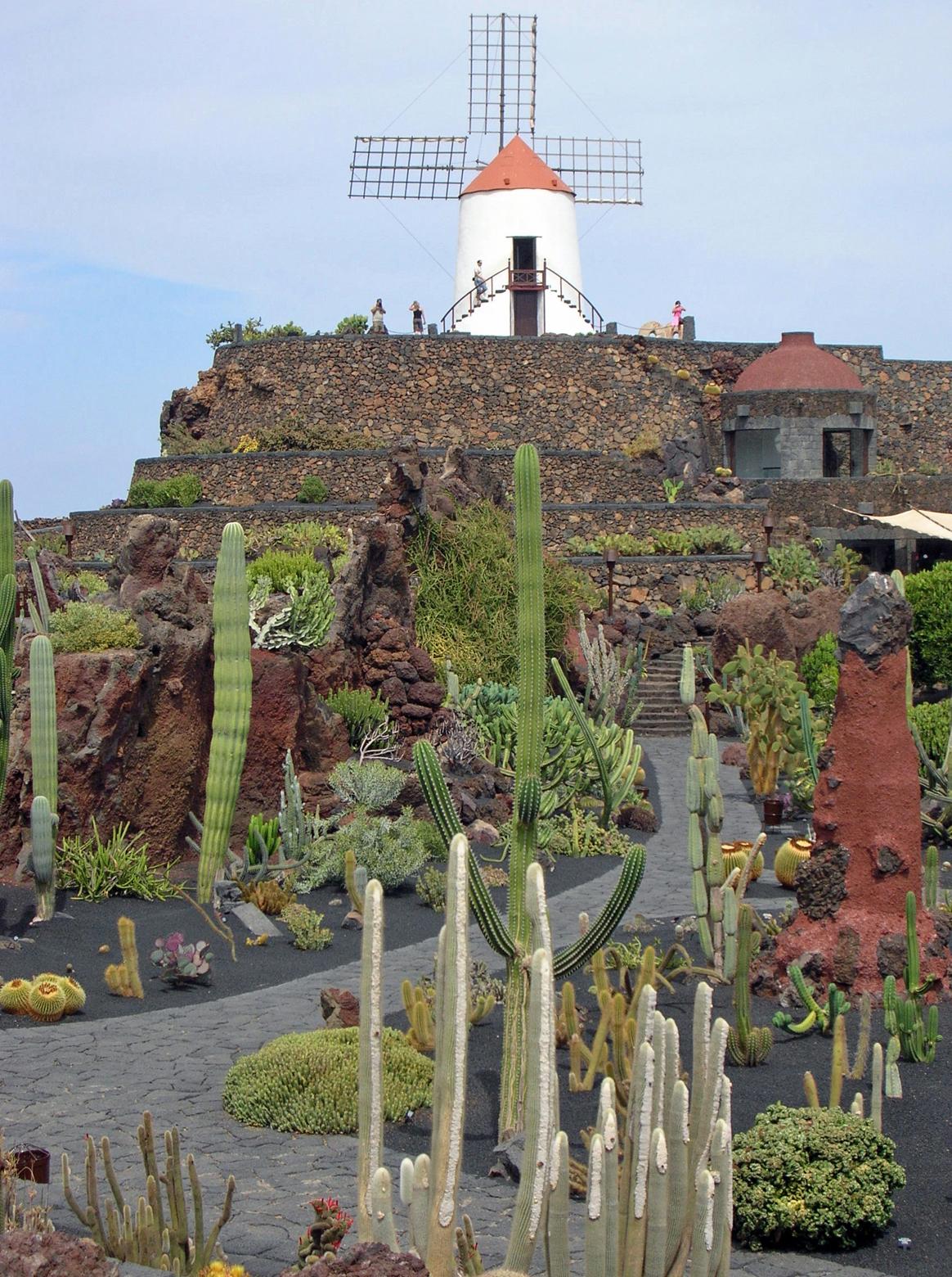 Das dorf guatiza auf lanzarote die sammlung von sukkulenten for Jardin de cactus lanzarote