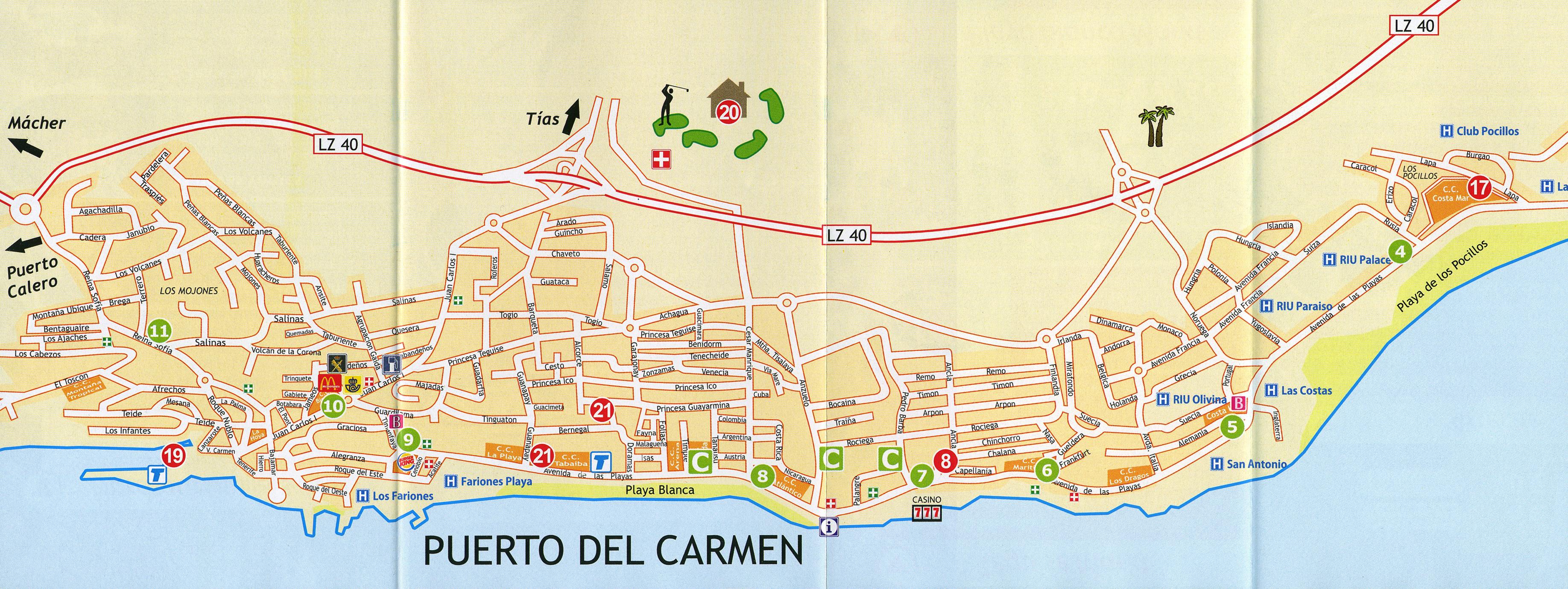 The Island Bar Puerto Del Carmen Map