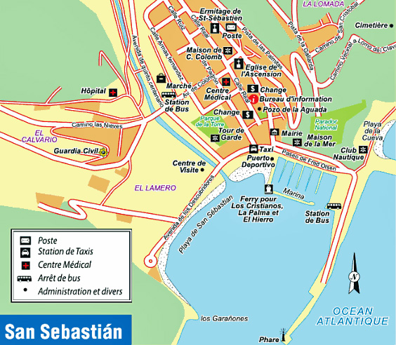 The town of San Sebastián in La Gomera