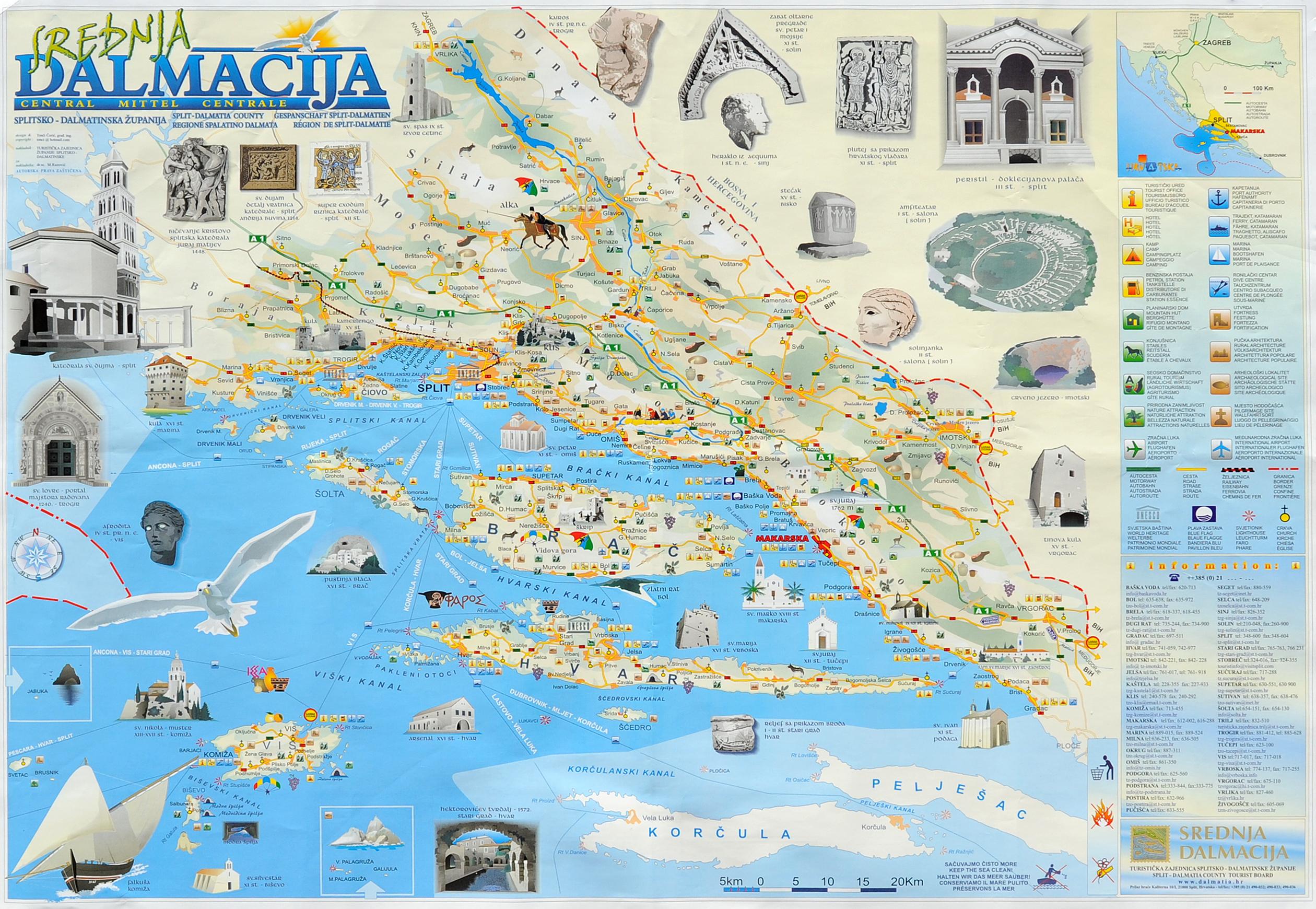 Croacia mapa turistico my blog for Oficina de turismo de croacia en madrid