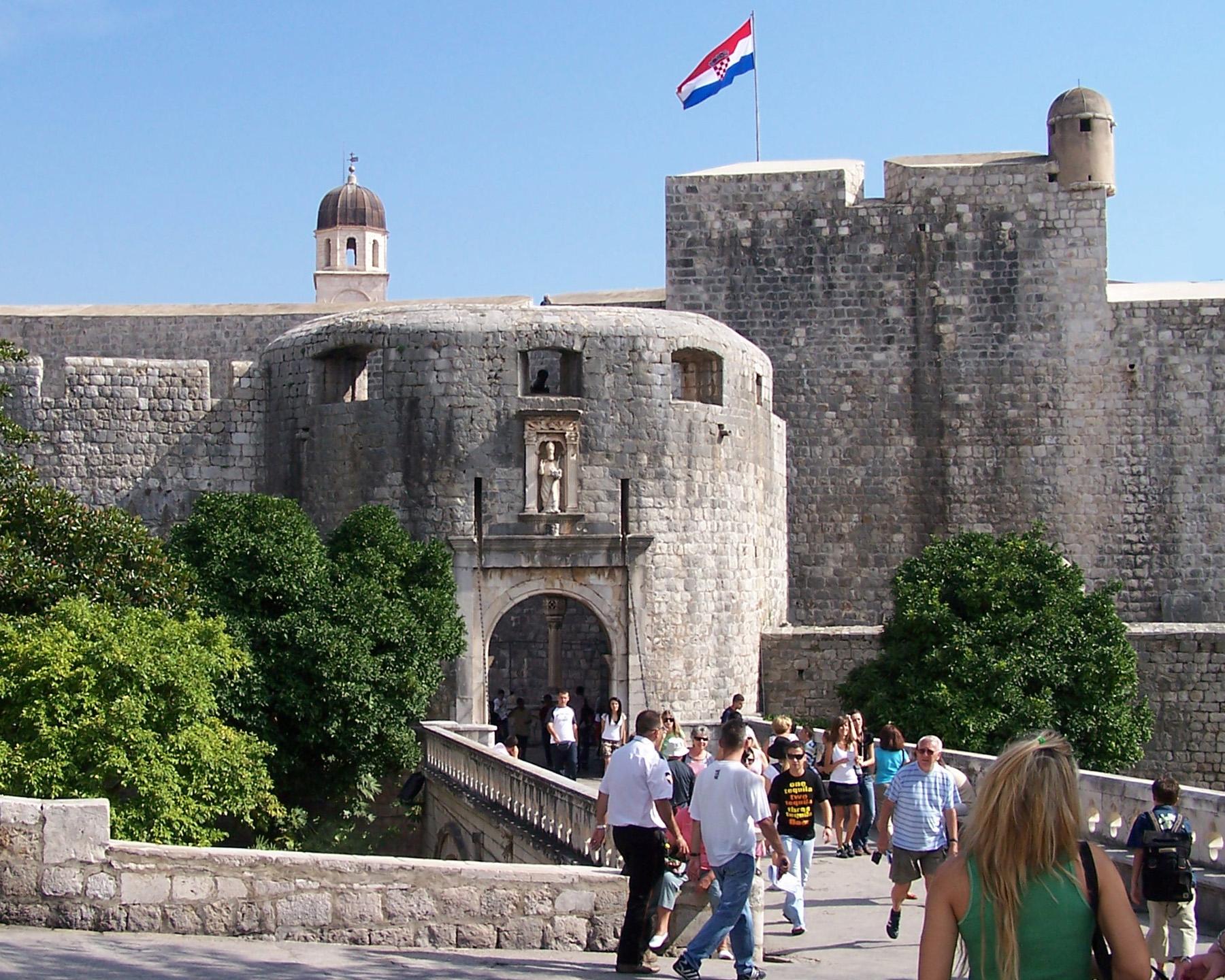 Les Fortifications De Dubrovnik En Croatie Les