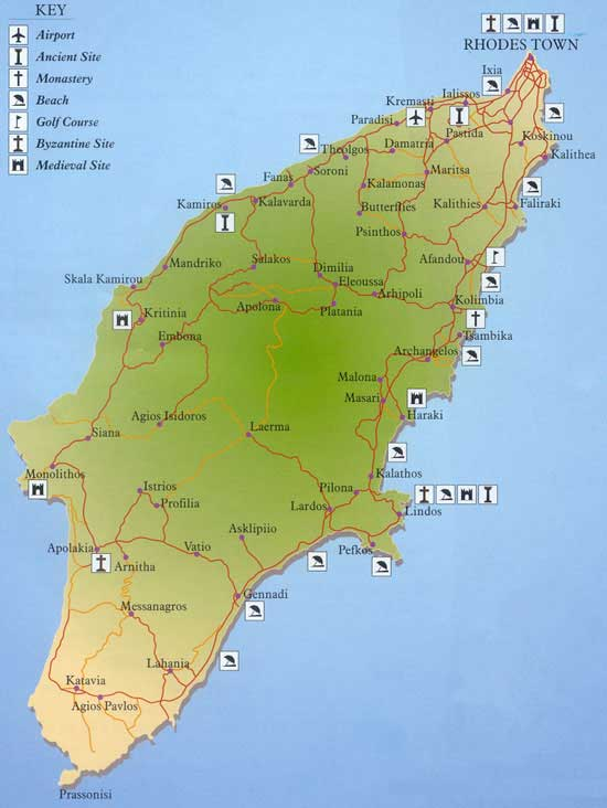 Tourist information Rhodes – Rhode Island Tourist Attractions Map