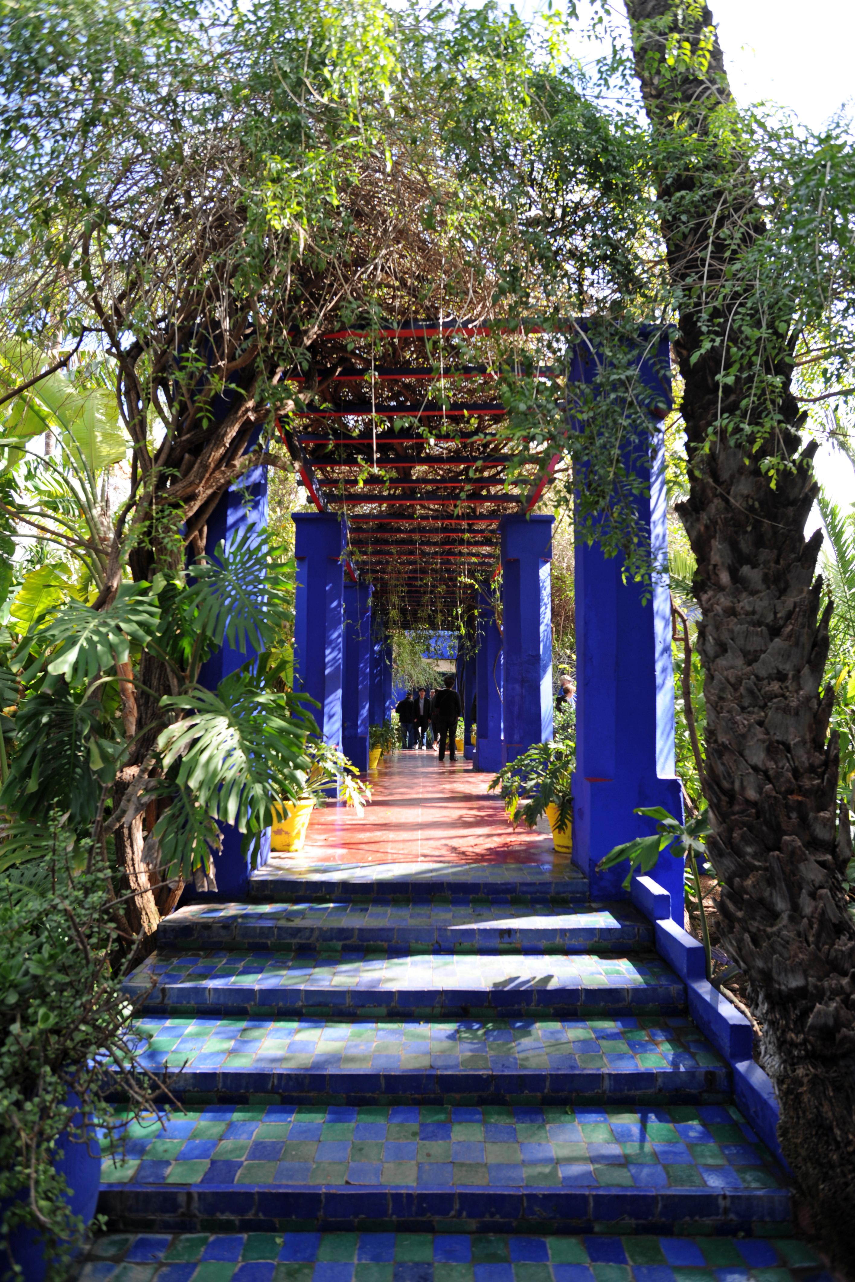 Le jardin majorelle marrakech au maroc for Jardin majorelle