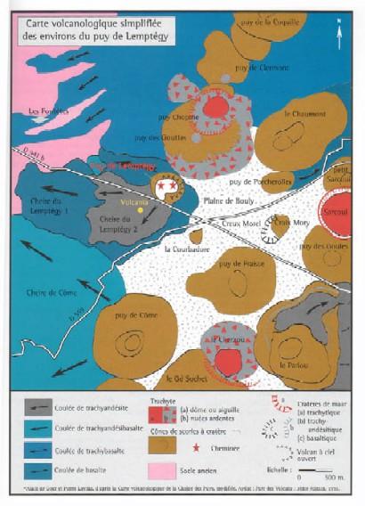 Le Puy De Lemptgy En Auvergne Carte Volcanologique Cliquer Pour Agrandir Limage