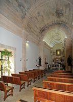 the sanctuary of cura de randa mallorca the nave of the chapel