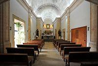 click to the sanctuary of cura de randa mallorca the nave of the chapel