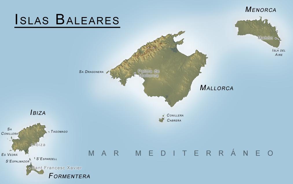 baleares mapa Mapa de las Islas Baleares baleares mapa