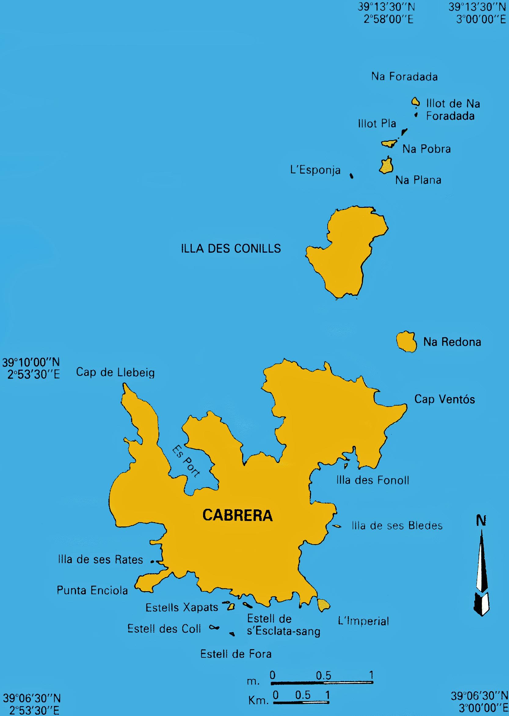 Isla De Cabrera Mapa.La Isla De Cabrera En Mallorca El Parque Nacional