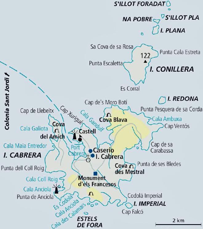 Isla De Cabrera Mapa.La Isla De Cabrera En Mallorca