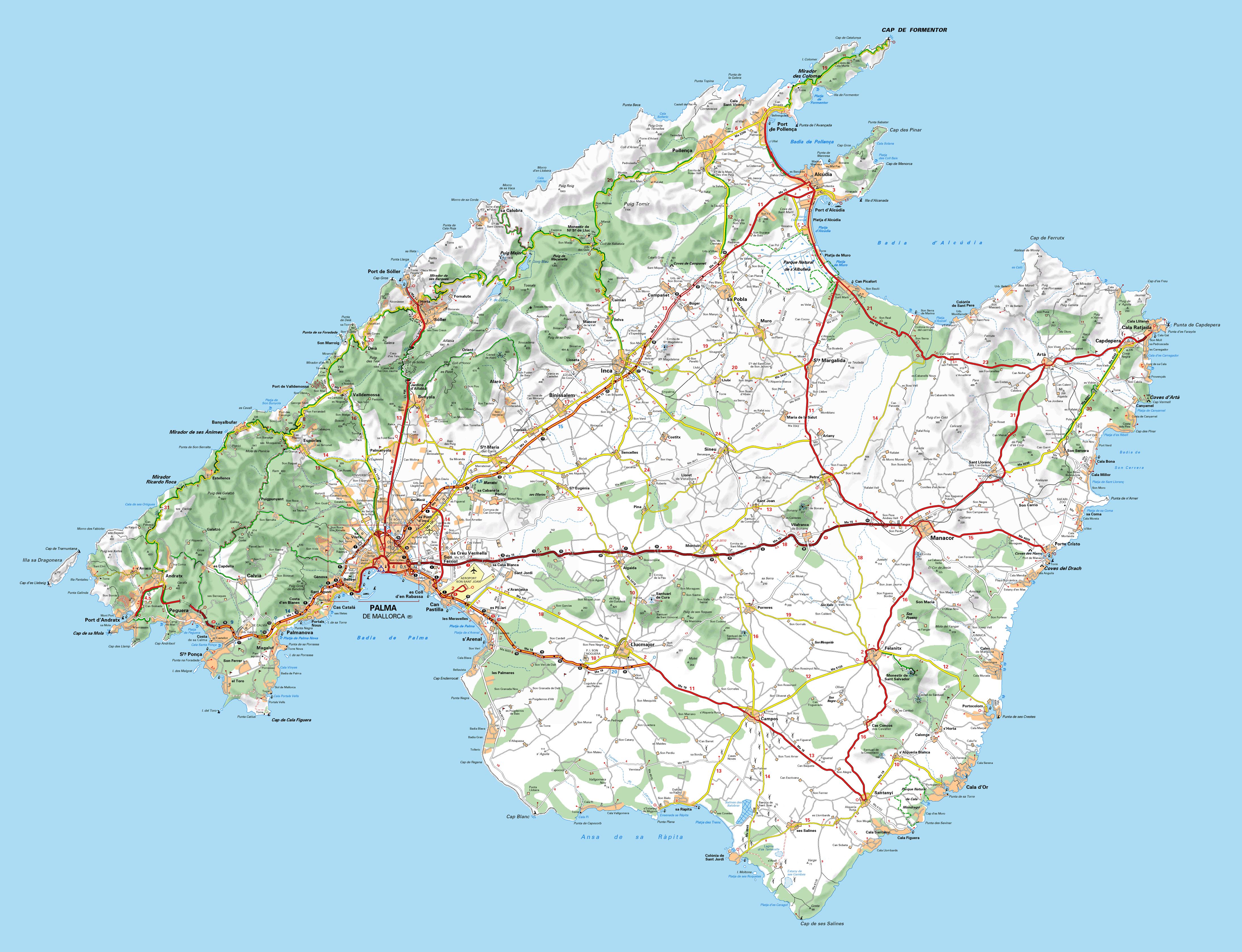 L'île de Majorque aux Baléares
