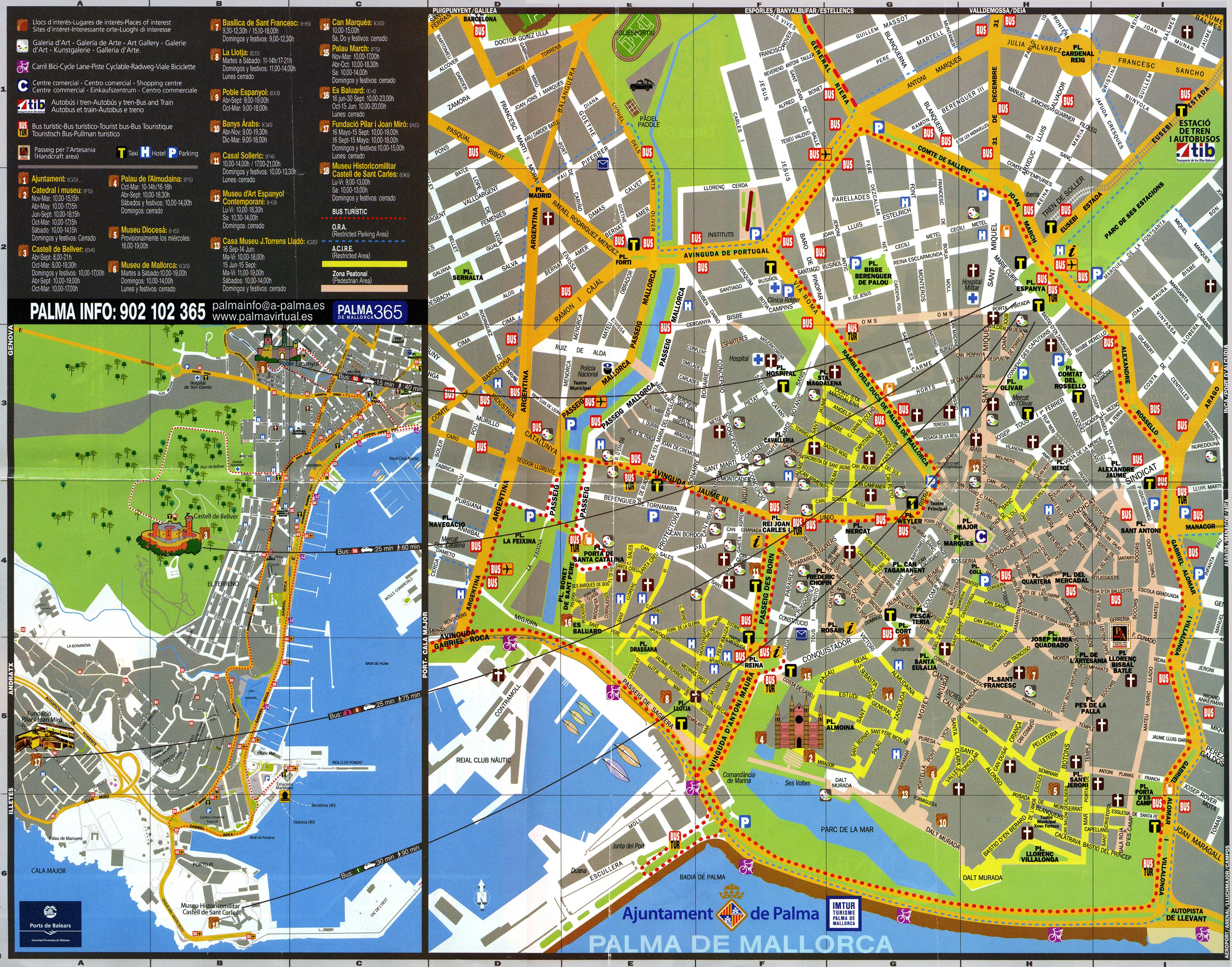 mapa turistico de palma de maiorca El barrio antiguo de Palma de Mallorca y patios mapa turistico de palma de maiorca