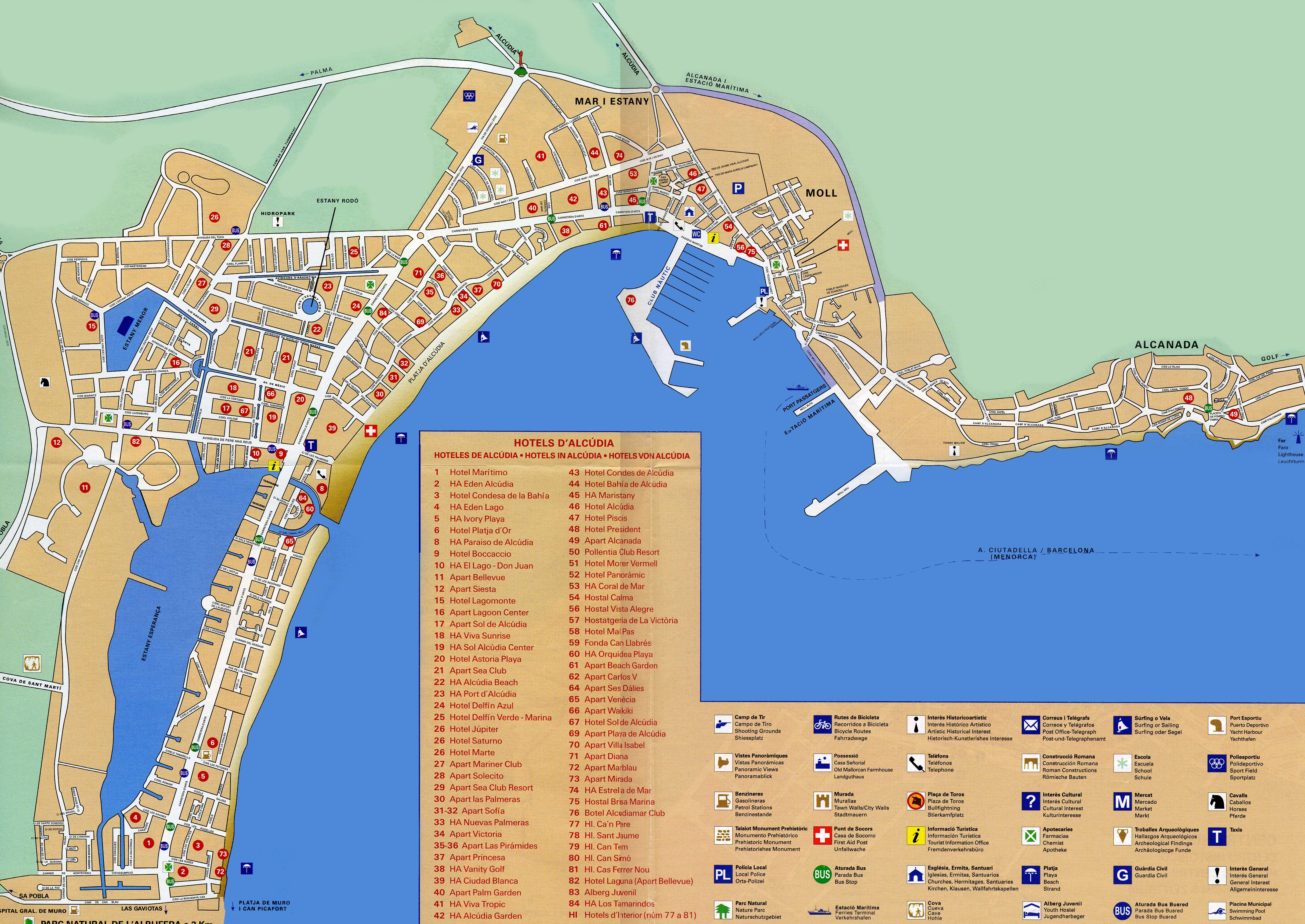Mallorca Karte Alcudia.Die Stadt Alcúdia In Mallorca