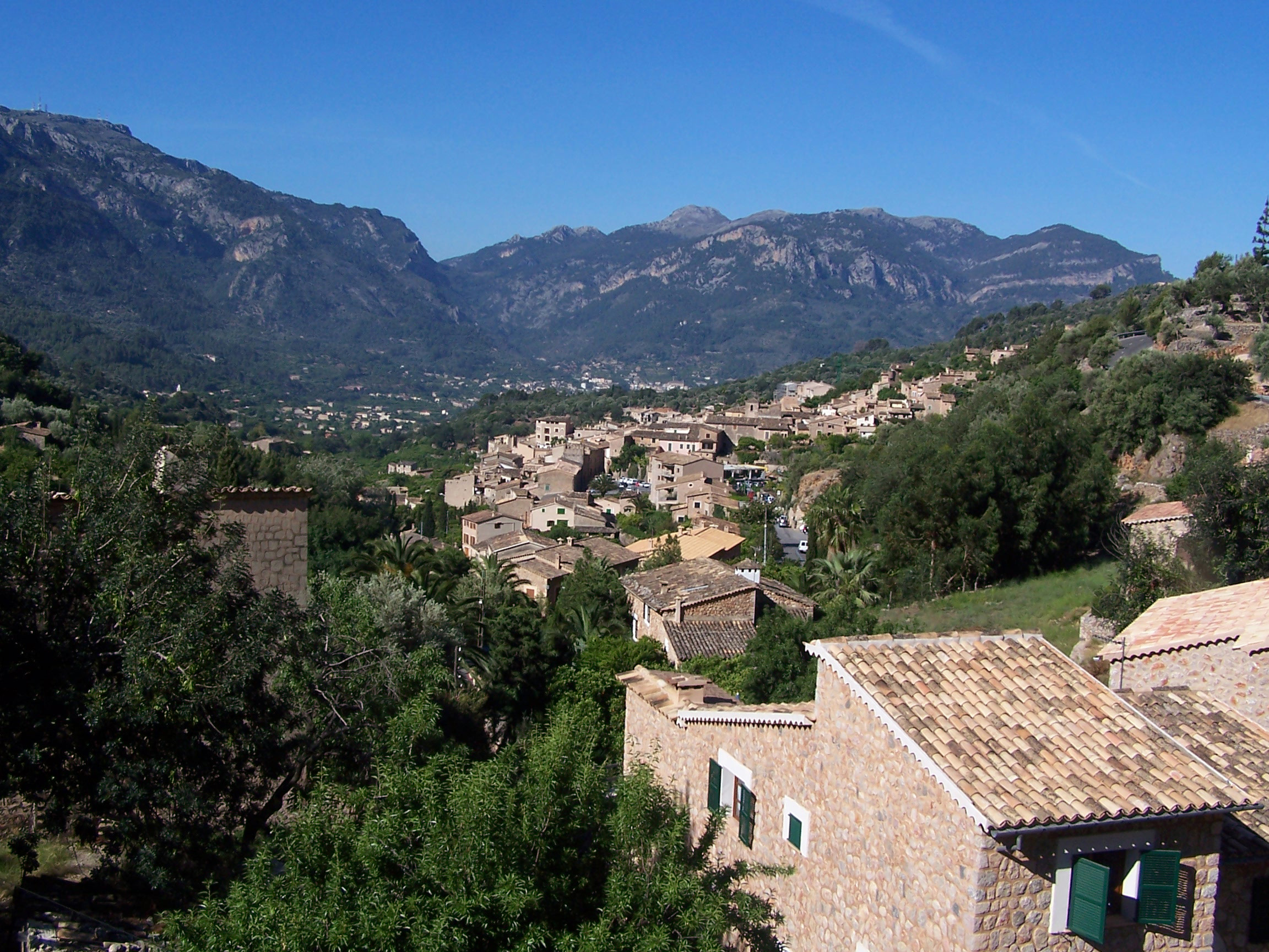 The Town Of Fornalutx In Majorca