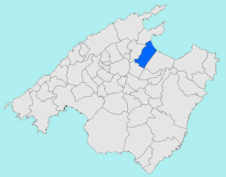Mapa De Mallorca Municipios.La Ciudad De Muro En Mallorca