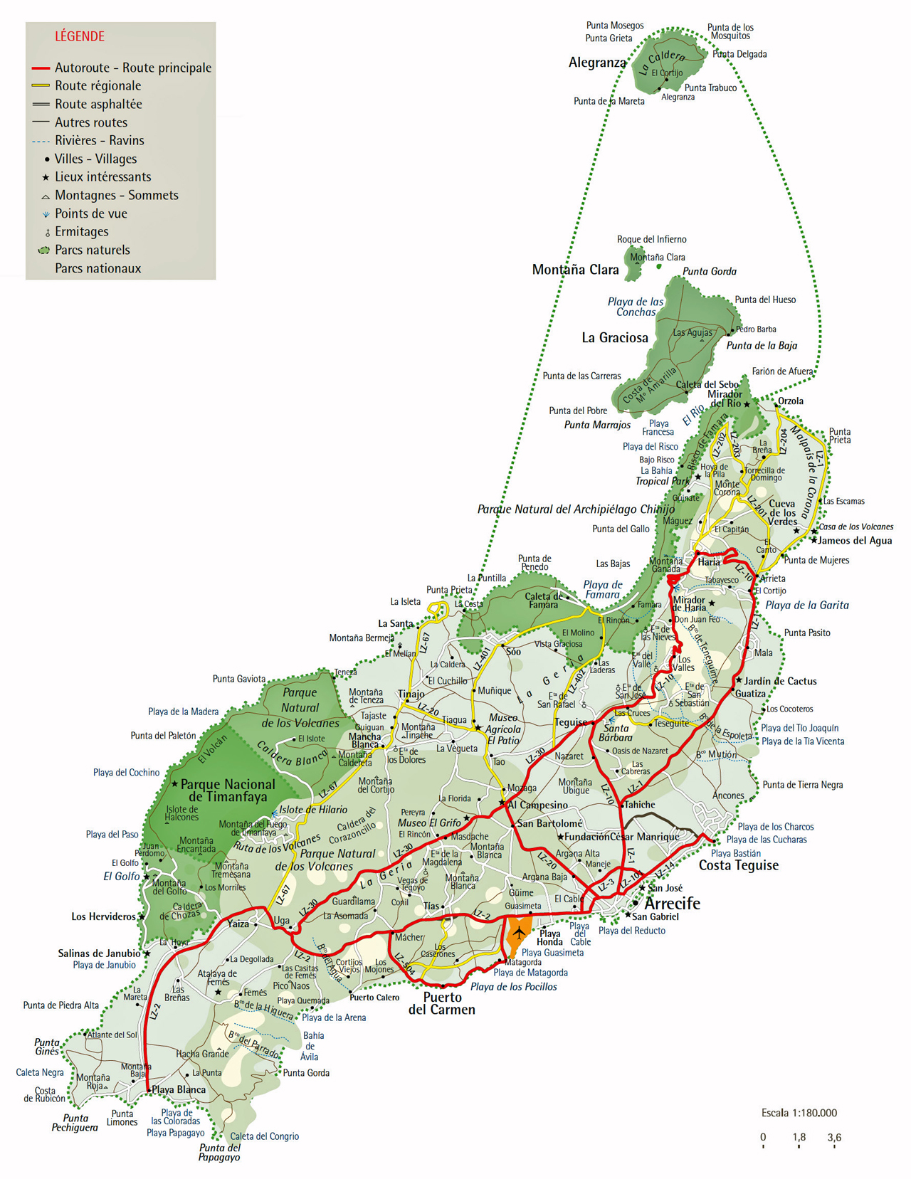 karte lanzarote Interaktive Karte der Insel Lanzarote karte lanzarote