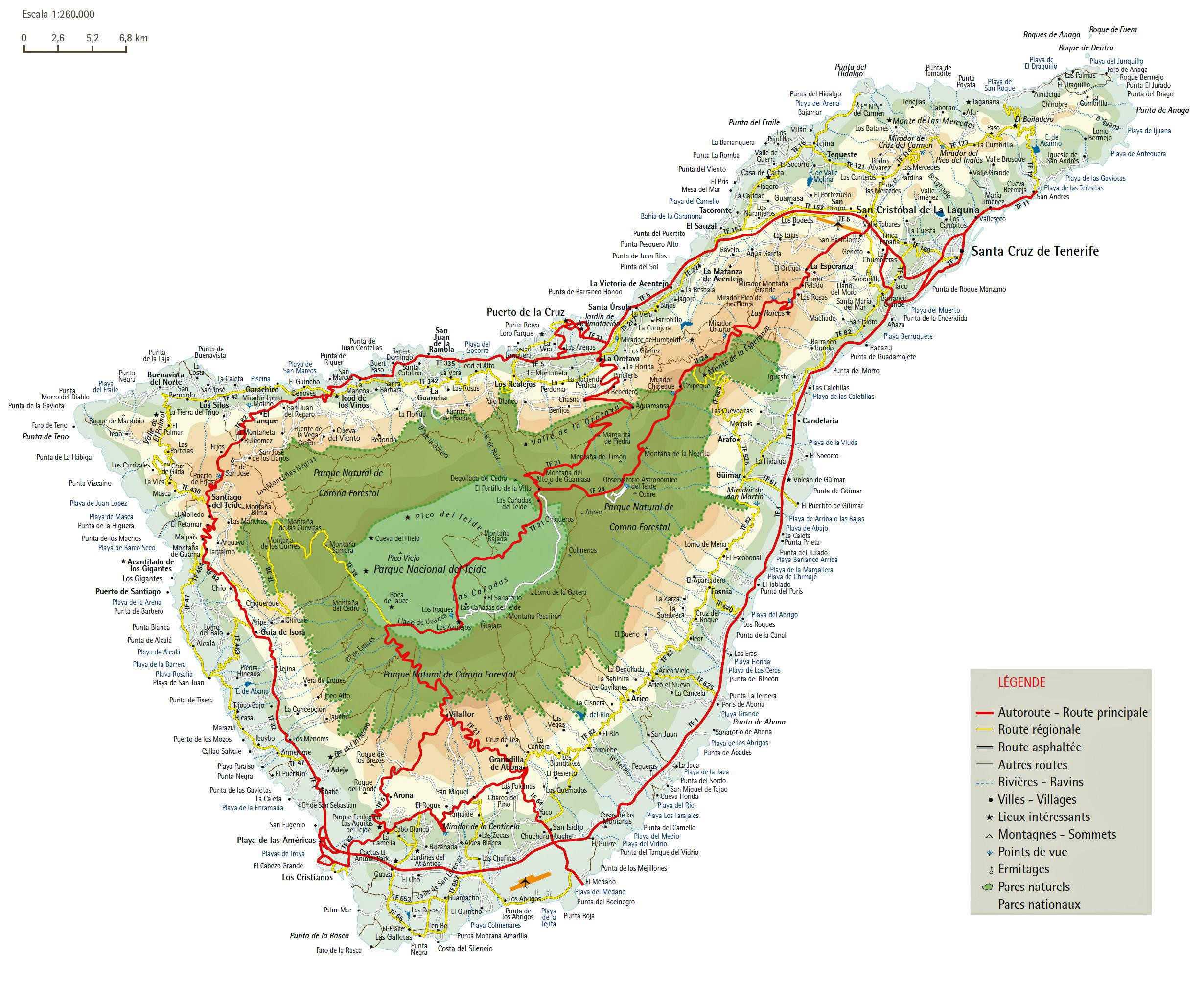Interaktive Karte Der Insel Teneriffa