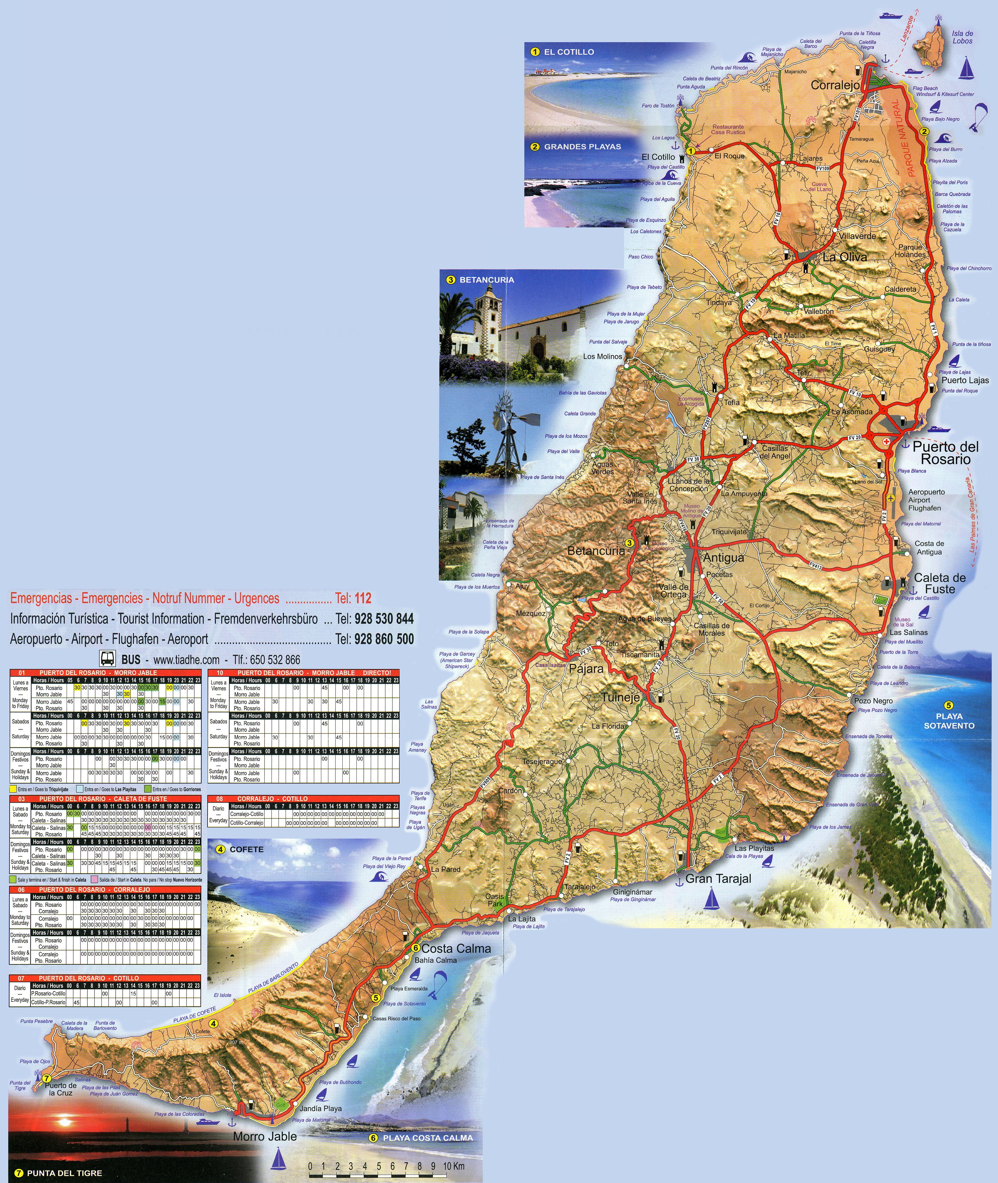 Cartina Spagna Fuerteventura.L Isola Di Fuerteventura Nelle Isole Canarie