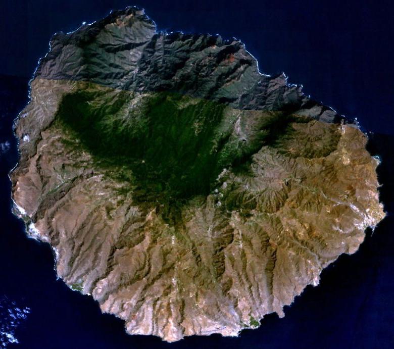 The Island Of La Gomera In The Canary Islands