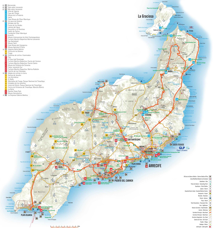 L'isola di Lanzarote nelle isole Canarie