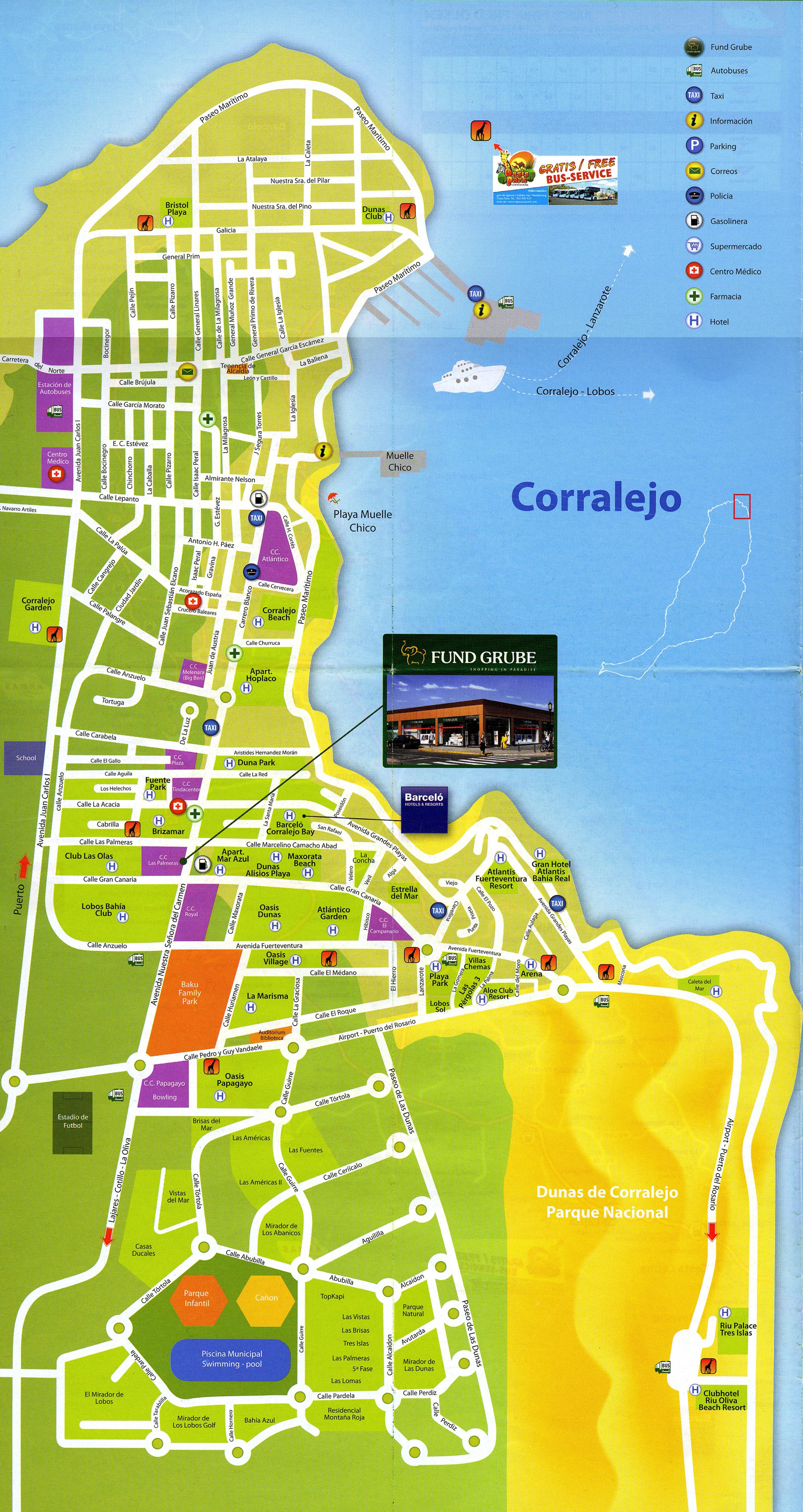 The village of Corralejo in Fuerteventura