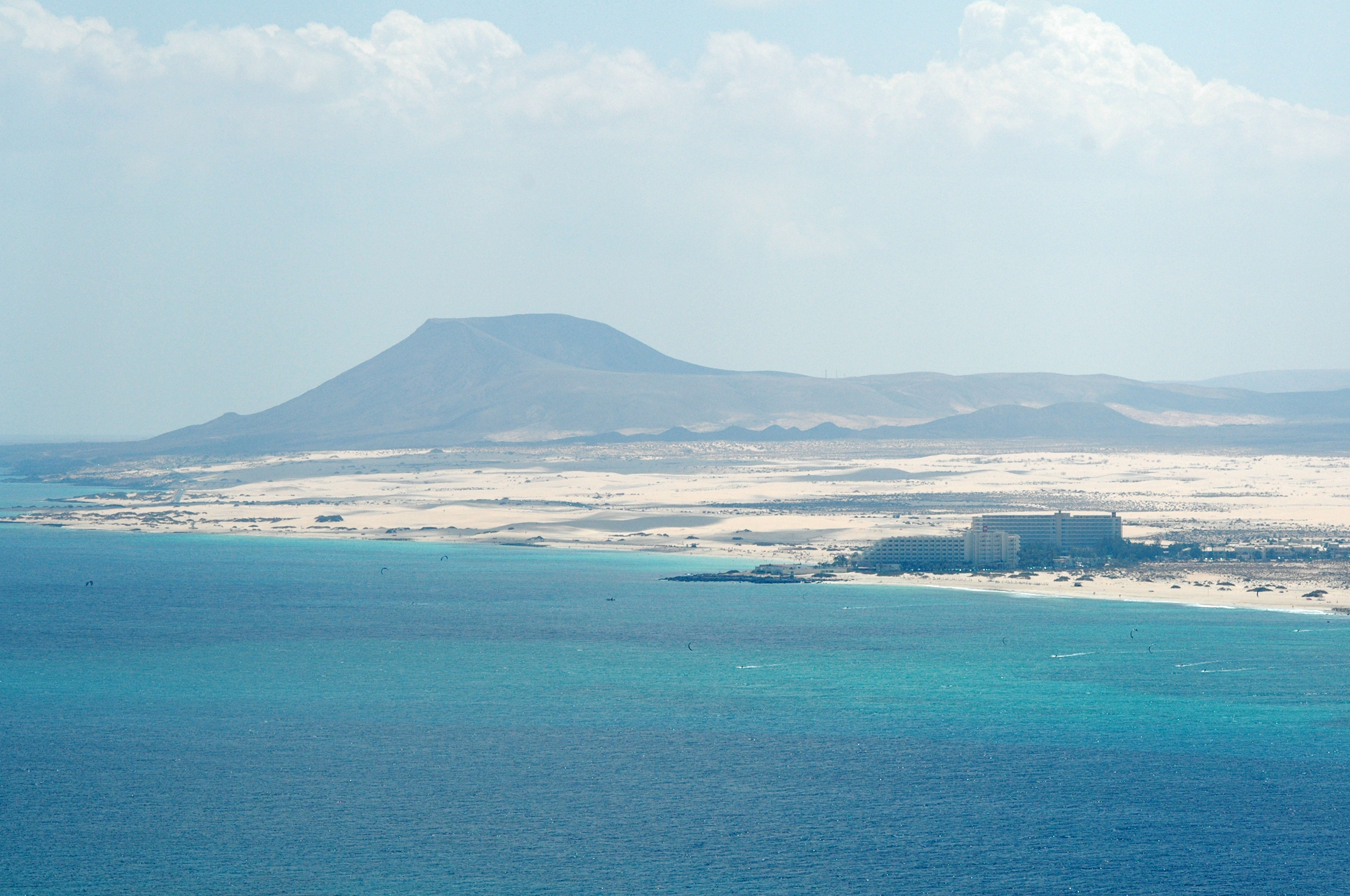 The village of Corralejo in Fuerteventura