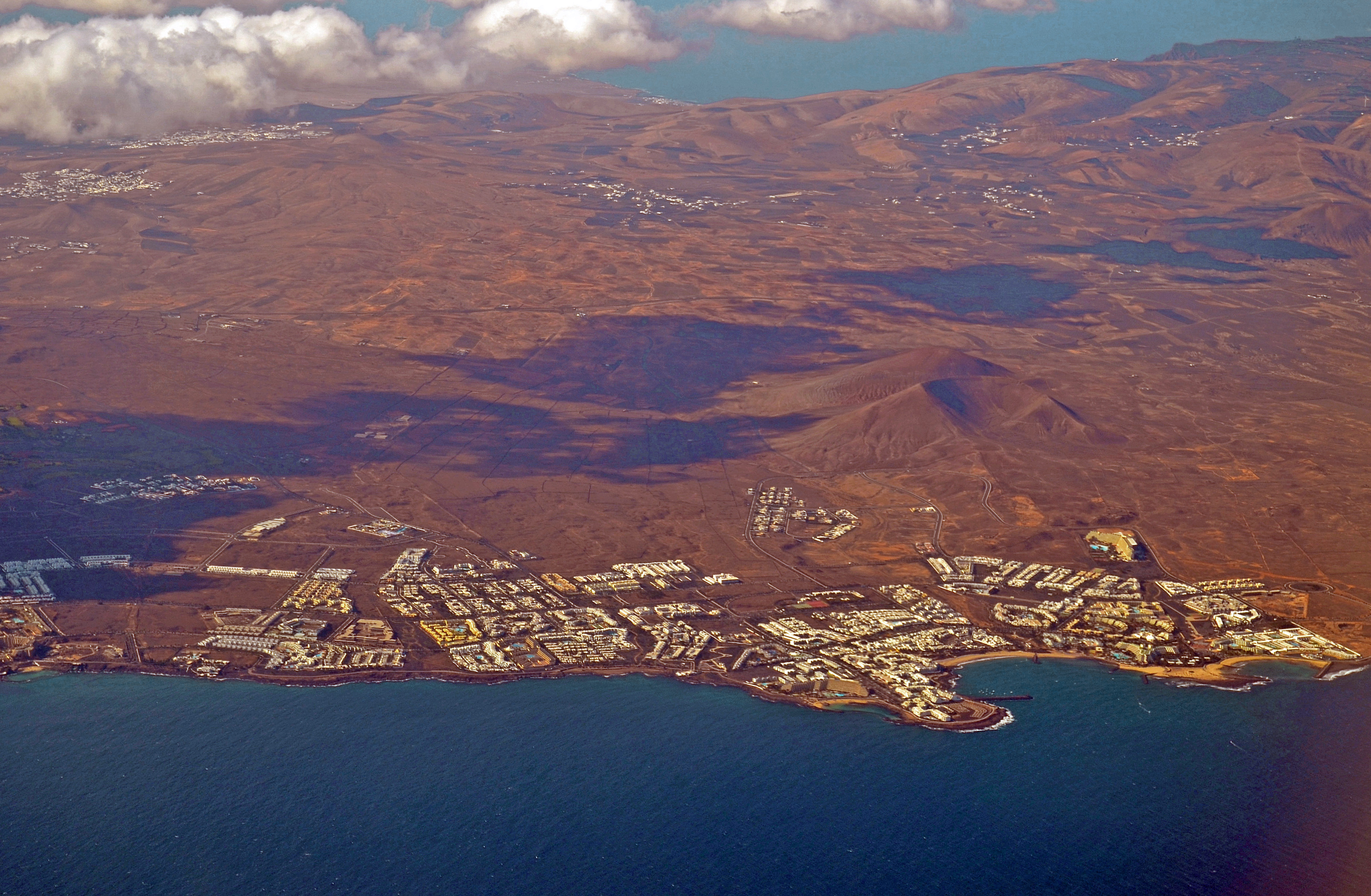 The village of Costa Teguise in Lanzarote