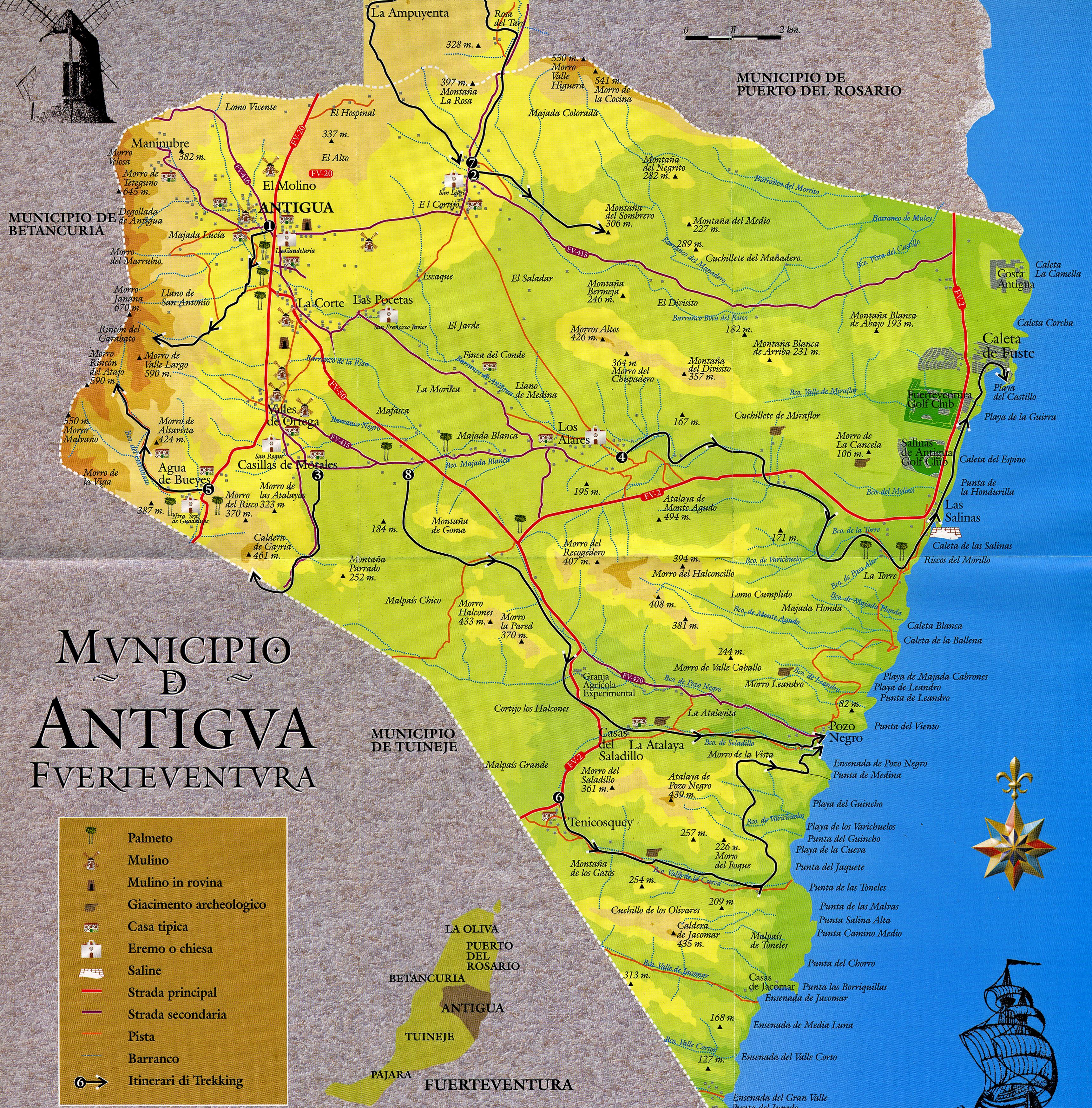 The town of Antigua in Fuerteventura