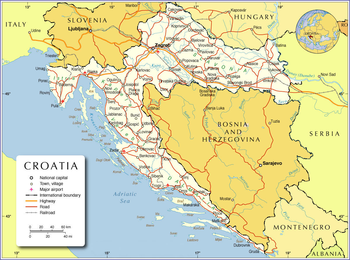 On a tour of Croatia