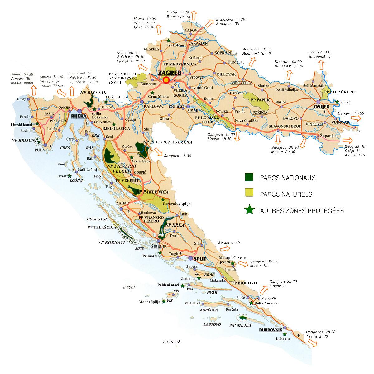 De Aardrijkskunde Van Kroatie