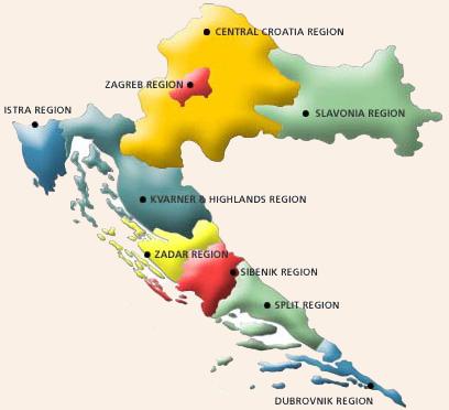 Die Geografie Kroatiens