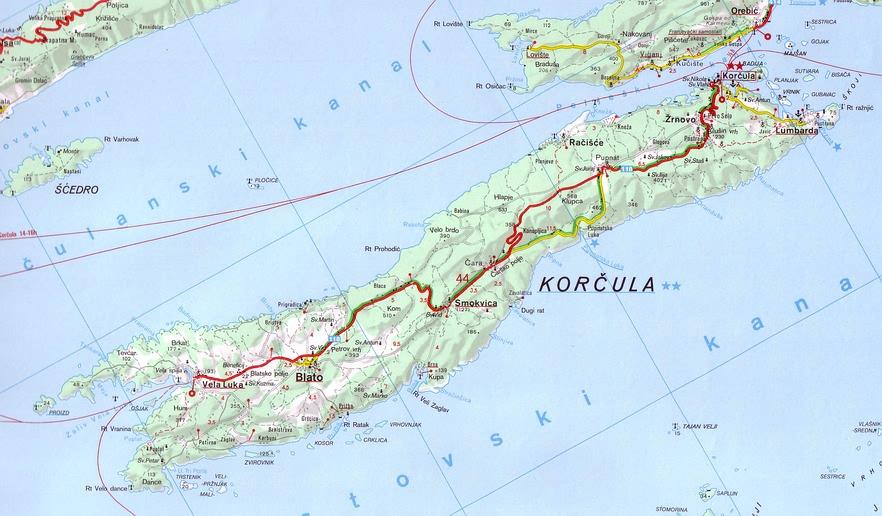 The island of Korčula in Croatia