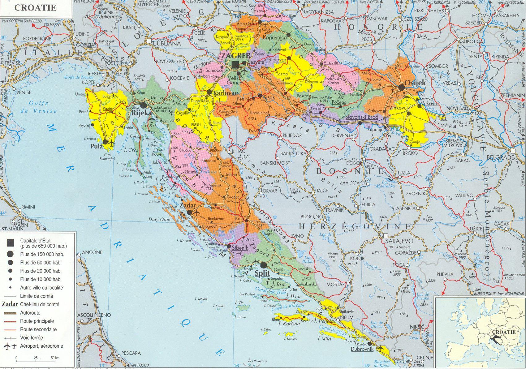 Informations touristiques sur la Croatie