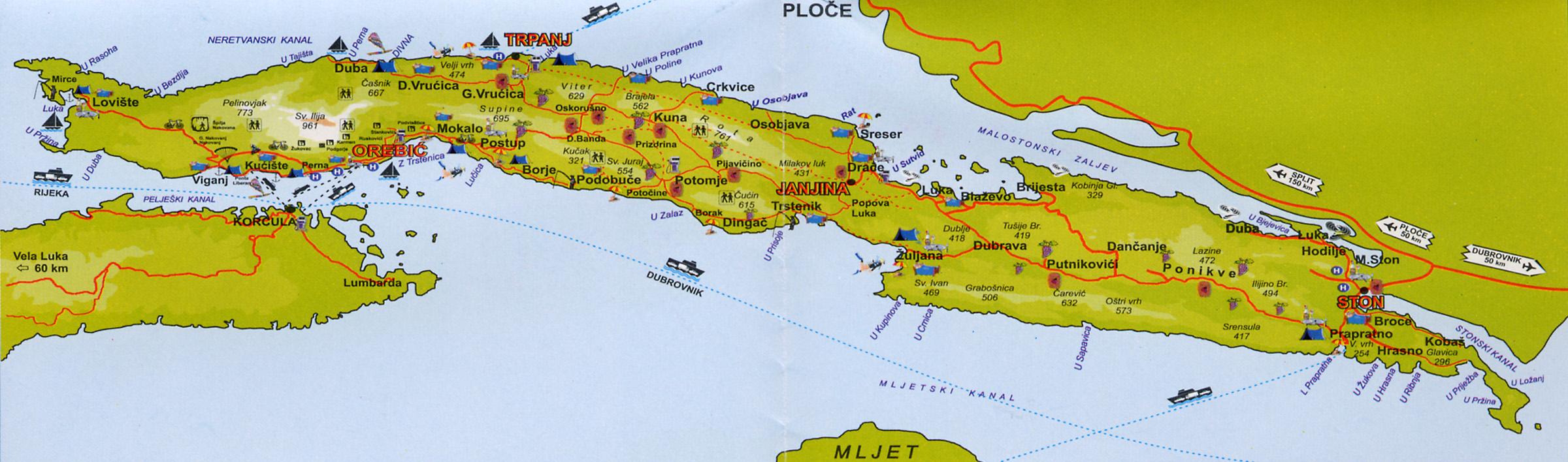 La presqu'île de Pelješac en Croatie
