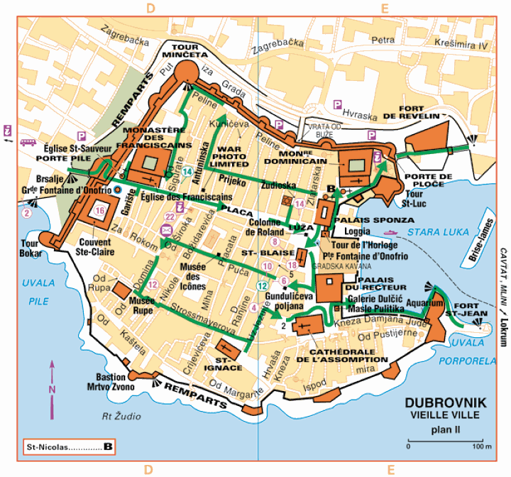 The closed city of Dubrovnik in Croatia