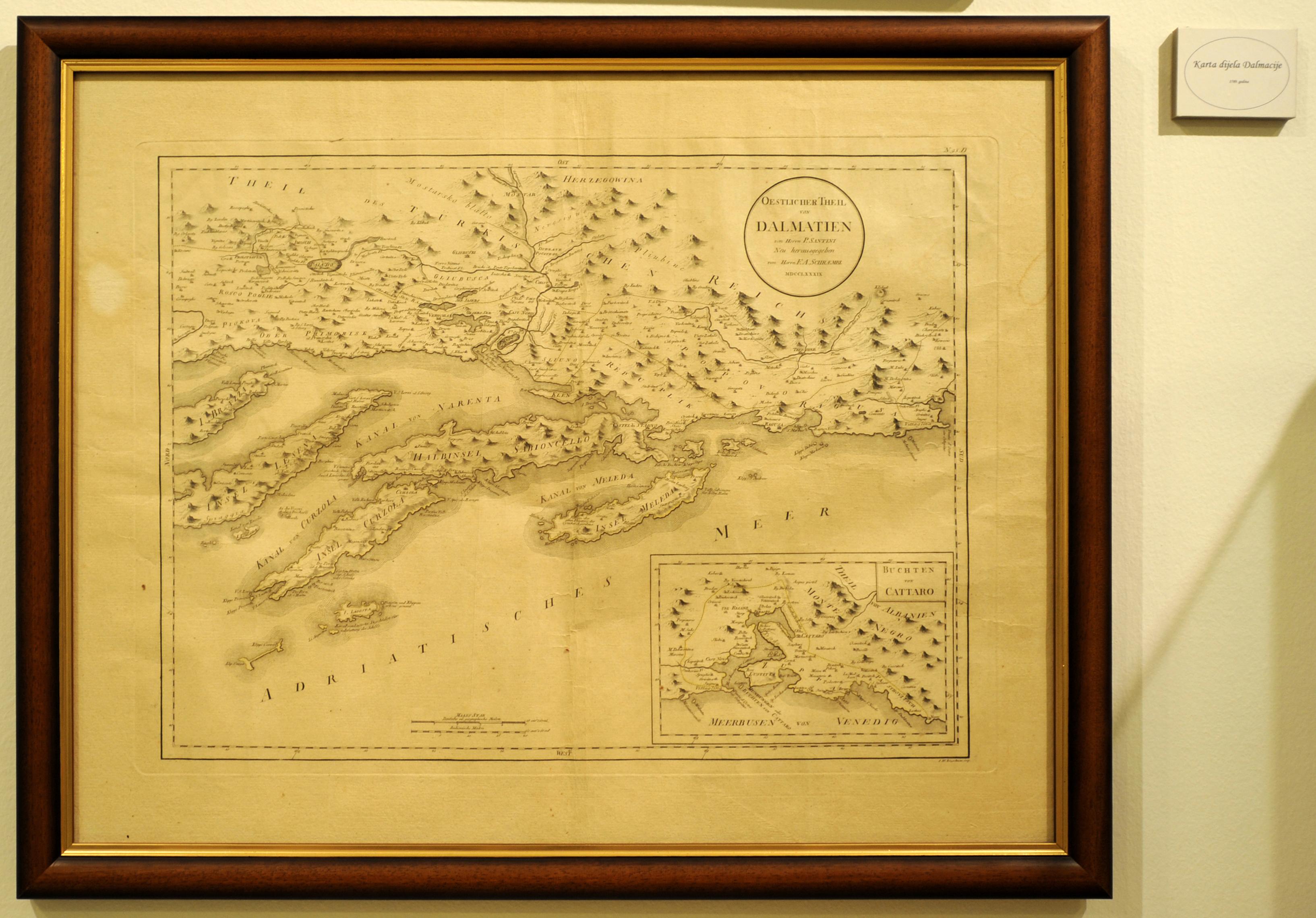 Carte Ancienne Croatie.Le Musee De La Marine A Split En Croatie
